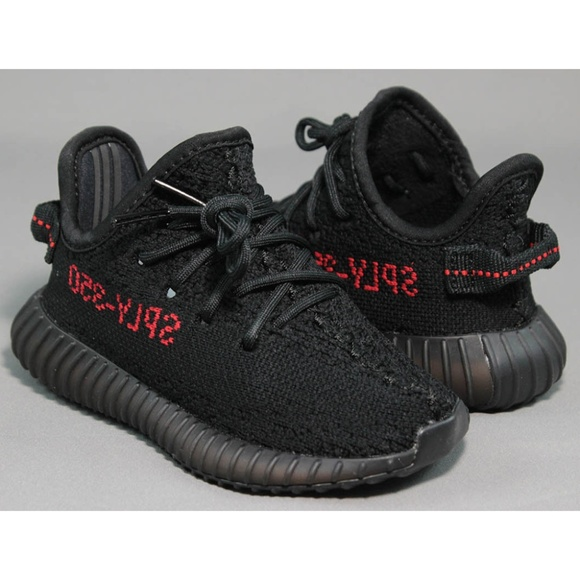 dc9d3fd08150 Adidas Yeezy Boost 350 V2 Infant Black Solar Red